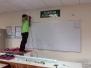 SMK Bertam Perdana Bilik Jahitan Wall screen and Projector